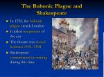 the bubonic plague and shakespeare