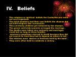 iv beliefs