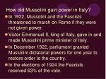 how did mussolini gain power in italy