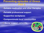 preventing episodes of illness part 2