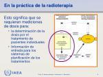 en la pr ctica de la radioterapia