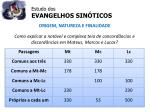 estudo dos evangelhos sin ticos15