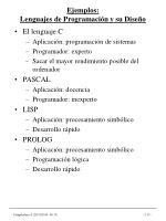ejemplos lenguajes de programaci n y su dise o
