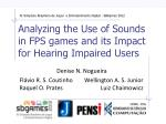 analyzing the use of sounds in fps games and its impact for hearing impaired users