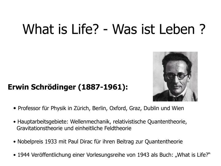 what is life was ist leben n.