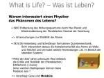what is life was ist leben1
