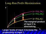 long run profit maximization2