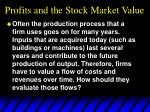 profits and the stock market value