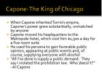capone the king of chicago