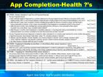 app completion health s