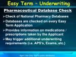 pharmaceutical database check