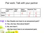 pair work talk with your partner