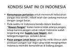 kondisi saat ini di indonesia