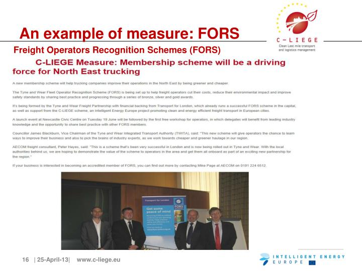 An example of measure: FORS