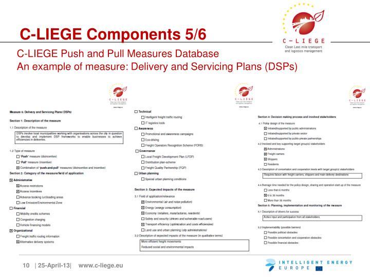 C-LIEGE Components 5/6
