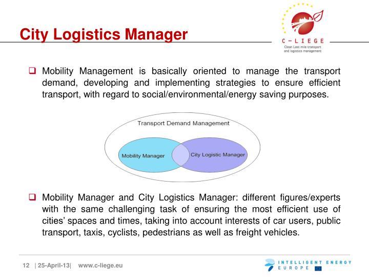 City Logistics Manager