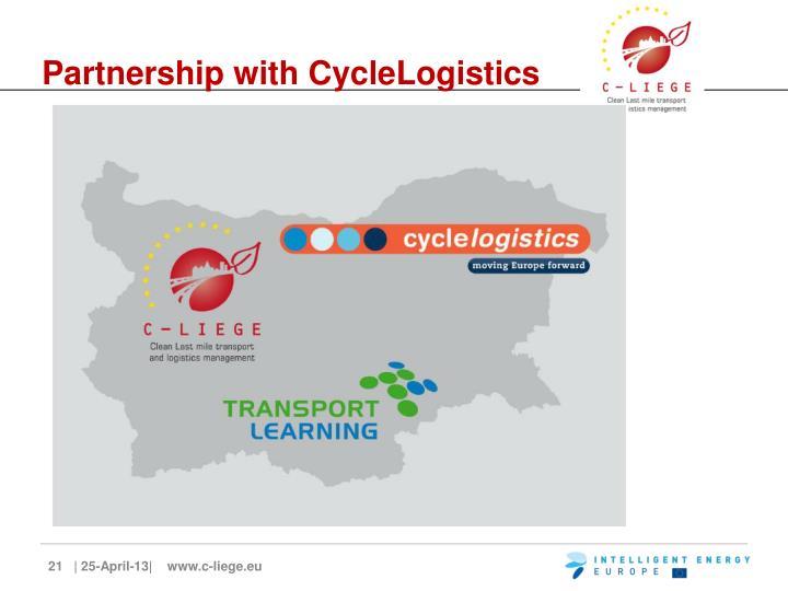 Partnership with CycleLogistics