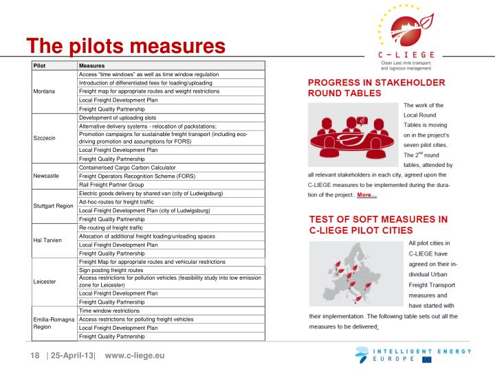 The pilots measures