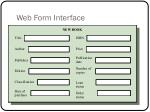 web form interface