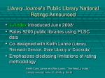 library journal s public library national ratings announced