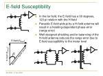 e field susceptibility