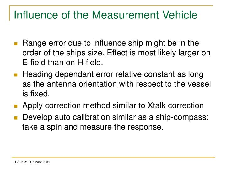 Influence of the Measurement Vehicle