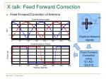 x talk feed forward correction