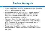 factor anlaysis