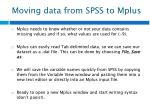 moving data from spss to mplus