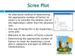 scree plot