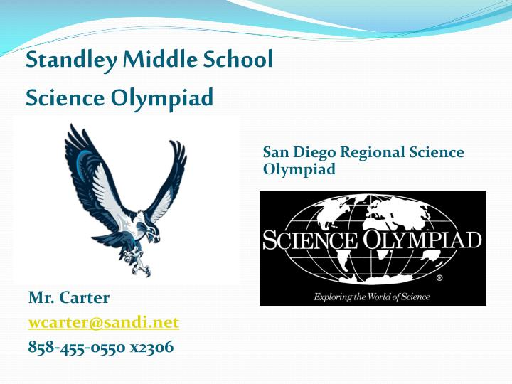standley middle school science olympiad n.