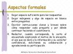 aspectos formales