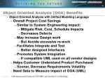 object oriented analysis ooa benefits