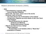 object oriented analysis ooa