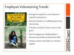 employee volunteering trends