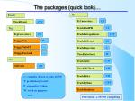 the packages quick look