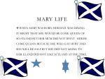 mary life