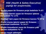 hse health safety executive yapt bir ara t rmada