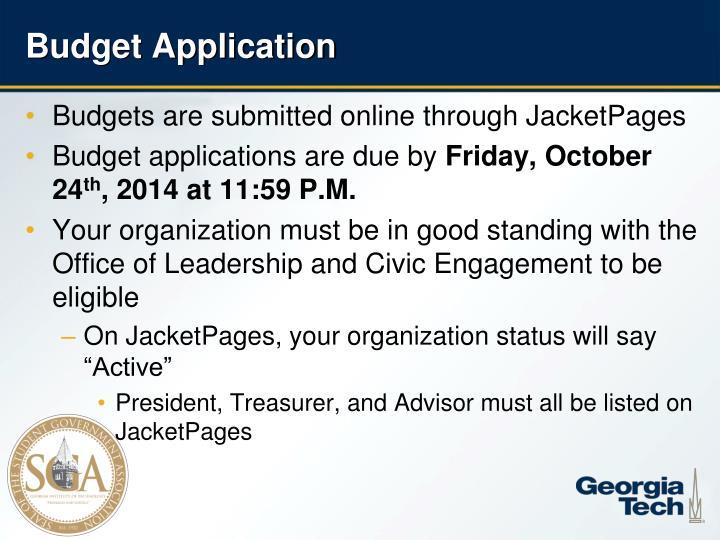 Budget application