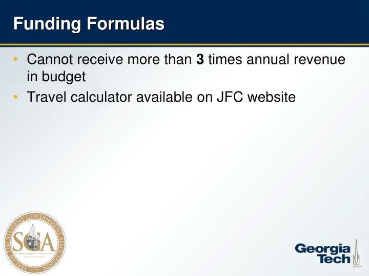 Funding Formulas
