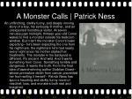 a monster calls patrick ness