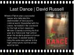 last dance david russell