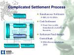 complicated settlement process