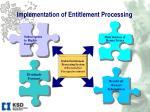 implementation of entitlement processing