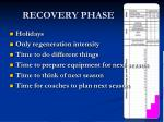 recovery phase