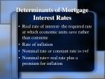 determinants of mortgage interest rates