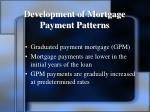 development of mortgage payment patterns2