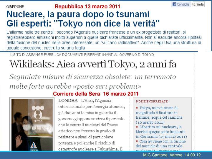 Repubblica 13 marzo 2011