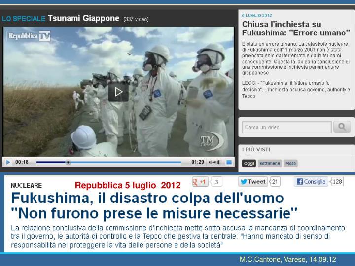 Repubblica 5 luglio  2012