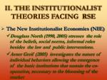 ii the institutionalist theories facing rse